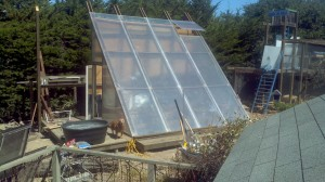 A solar vent takes no energy and provides a safety valve against overheating in your greenhouse.